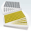 Complete Packs Self Adhesive Numbers & Letters - Yellow