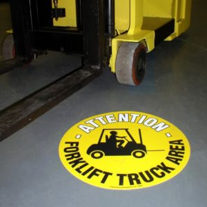 Graphic Floor Markers - English