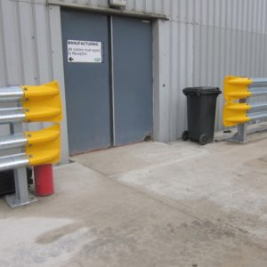 Armco Fishtail Safety Ends Outside Factory Door